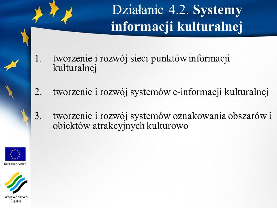 Działanie 4.2. Systemy informacji kulturalnej