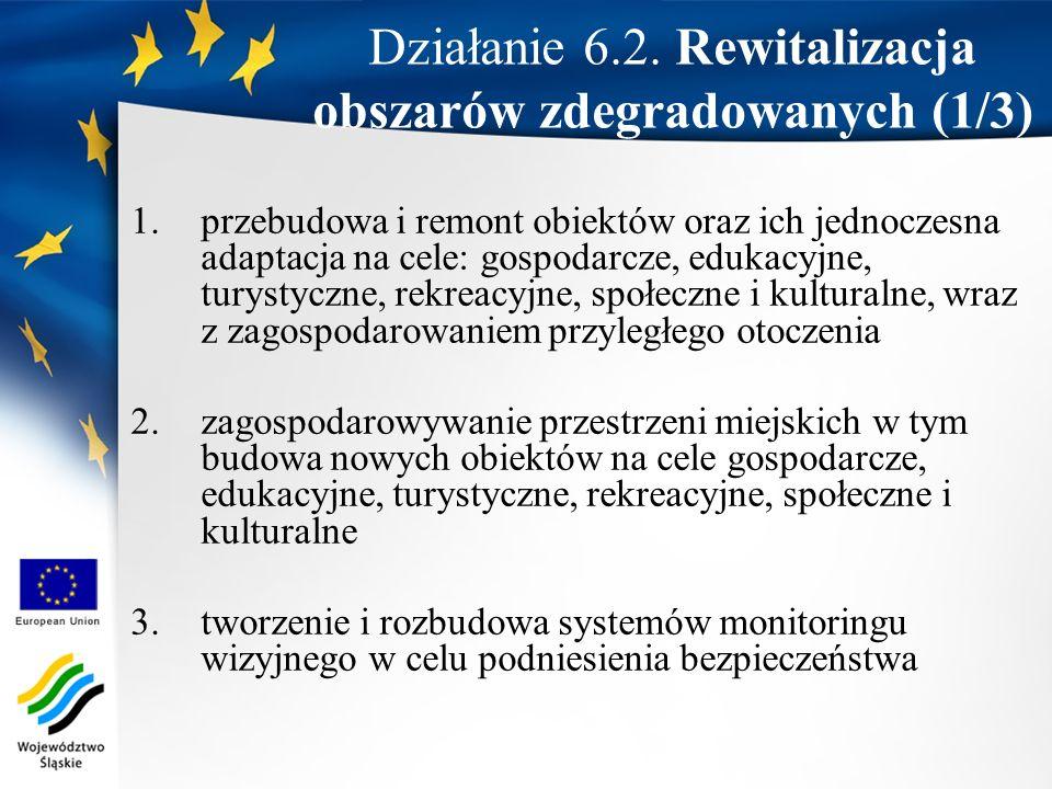 Działanie 6.2. Rewitalizacja obszarów zdegradowanych (1/3)