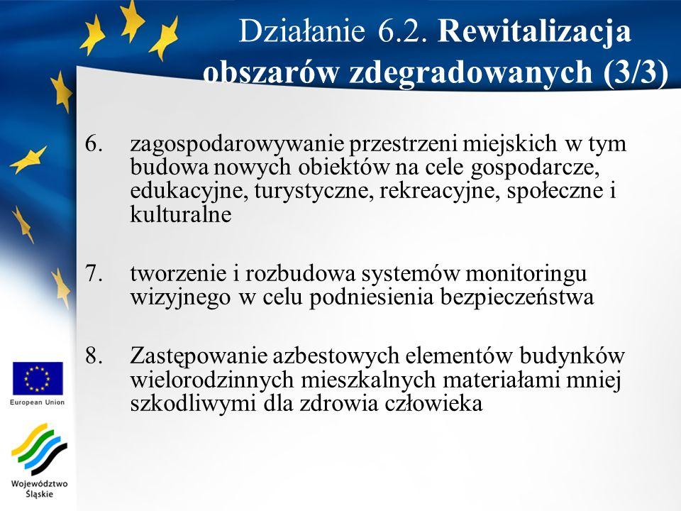 Działanie 6.2. Rewitalizacja obszarów zdegradowanych (3/3)