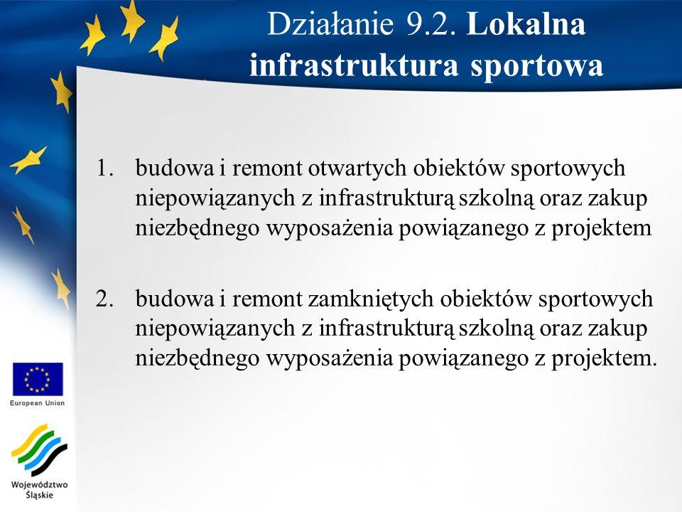 Działanie 9.2. Lokalna infrastruktura sportowa