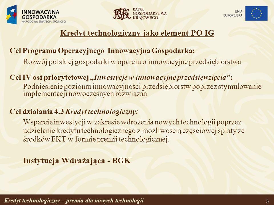 Kredyt technologiczny jako element PO IG