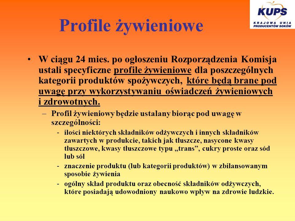 Profile żywieniowe