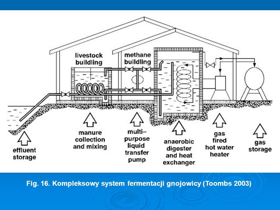 Fig. 16. Kompleksowy system fermentacji gnojowicy (Toombs 2003)