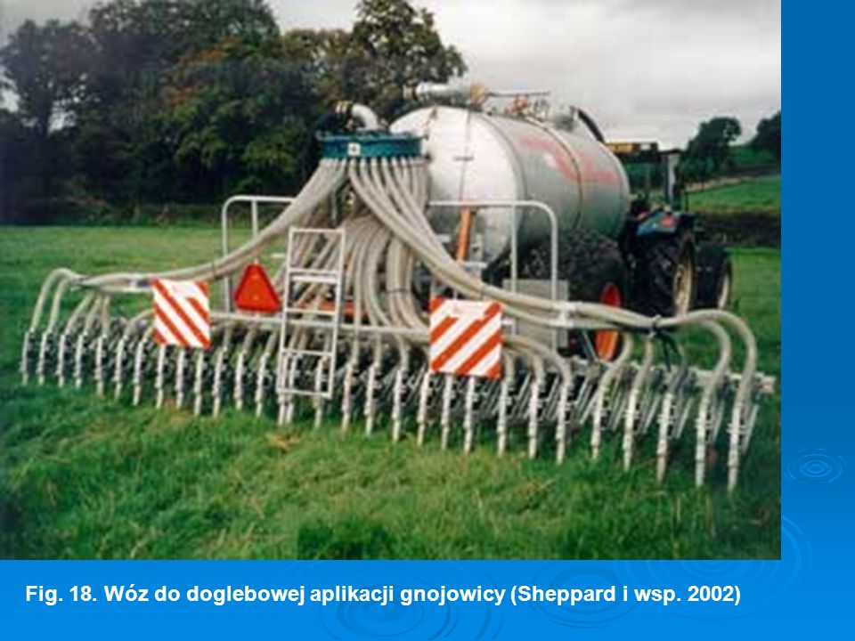 Fig. 18. Wóz do doglebowej aplikacji gnojowicy (Sheppard i wsp. 2002)