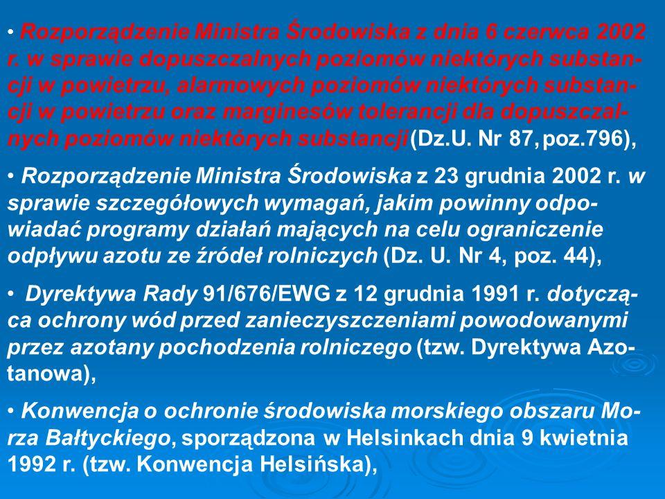 Rozporządzenie Ministra Środowiska z dnia 6 czerwca 2002 r