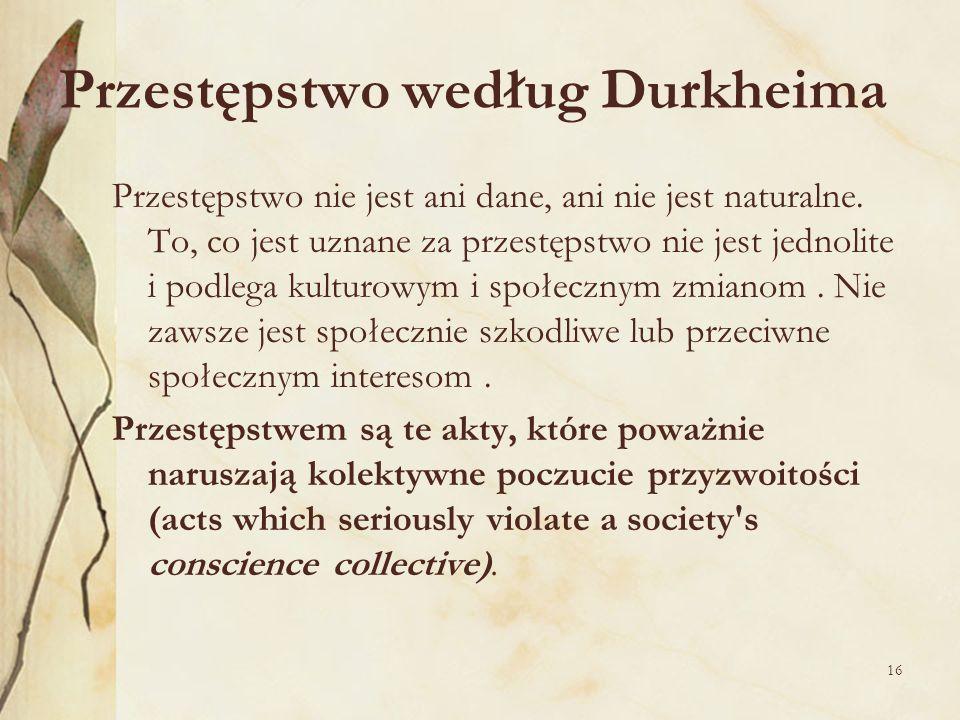 Przestępstwo według Durkheima