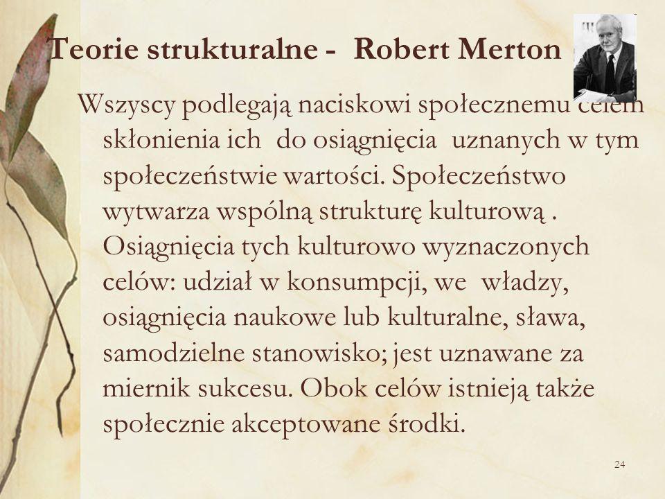 Teorie strukturalne - Robert Merton