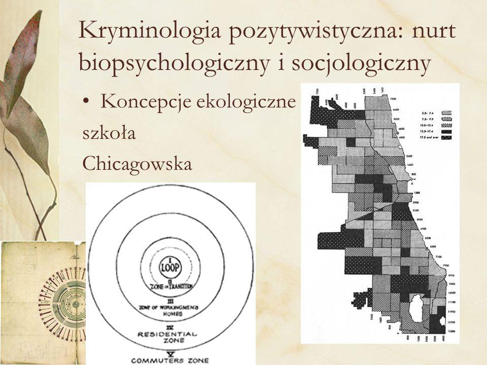 Kryminologia pozytywistyczna: nurt biopsychologiczny i socjologiczny
