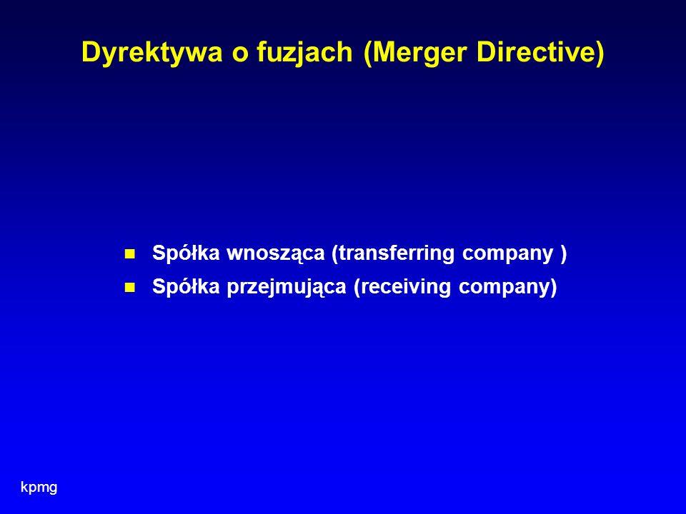 Dyrektywa o fuzjach (Merger Directive)