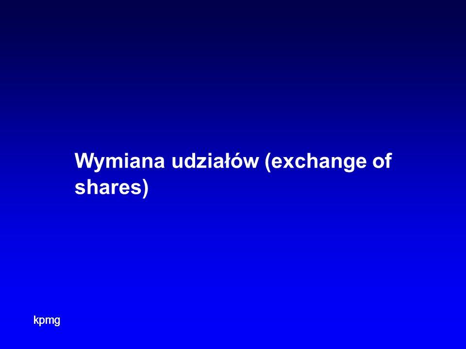 Wymiana udziałów (exchange of shares)