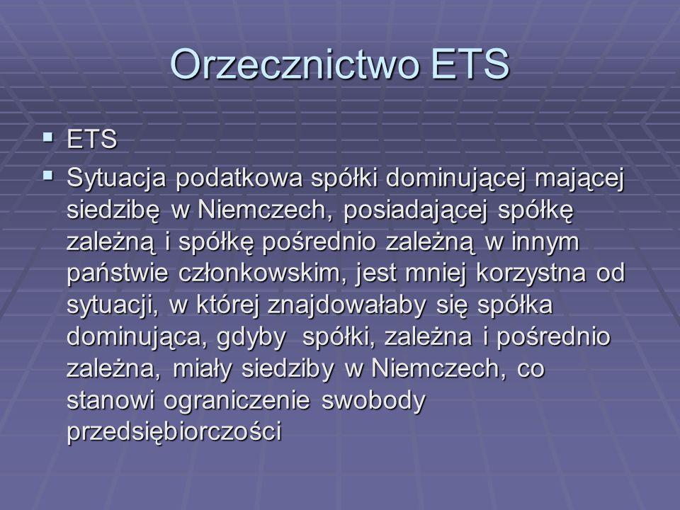 Orzecznictwo ETSETS.