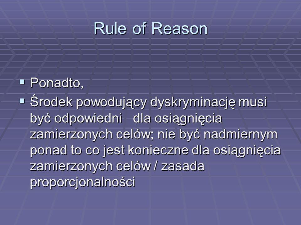 Rule of ReasonPonadto,