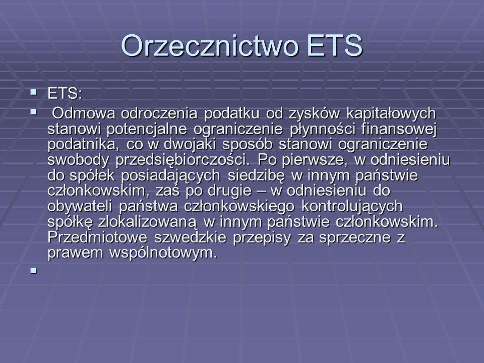Orzecznictwo ETSETS: