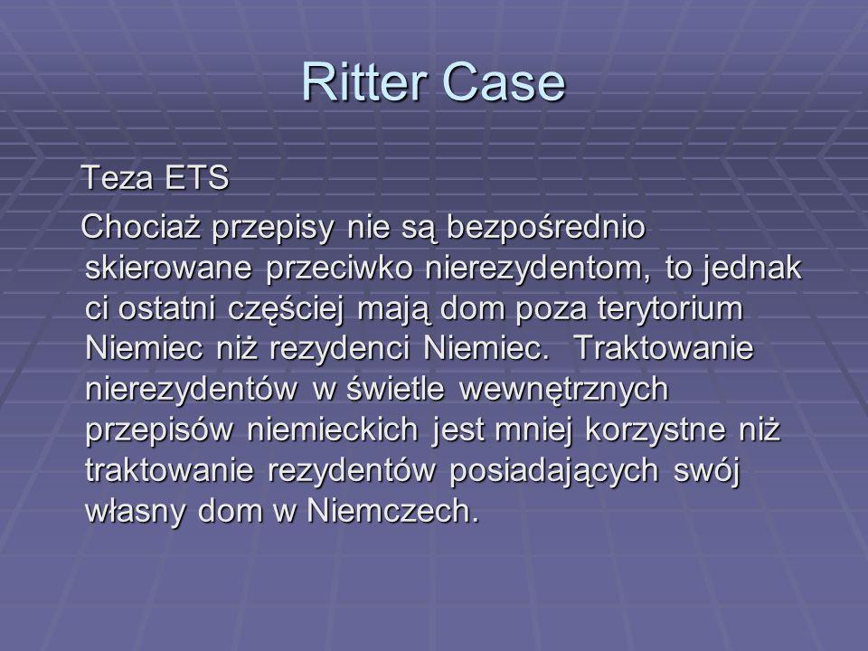 Ritter CaseTeza ETS.