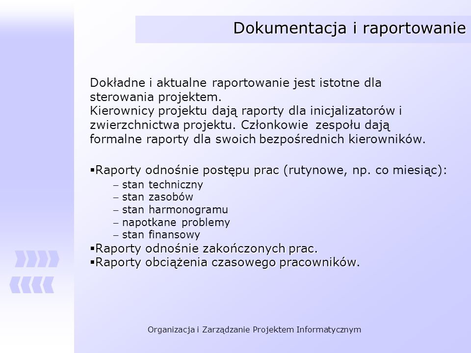 Dokumentacja i raportowanie