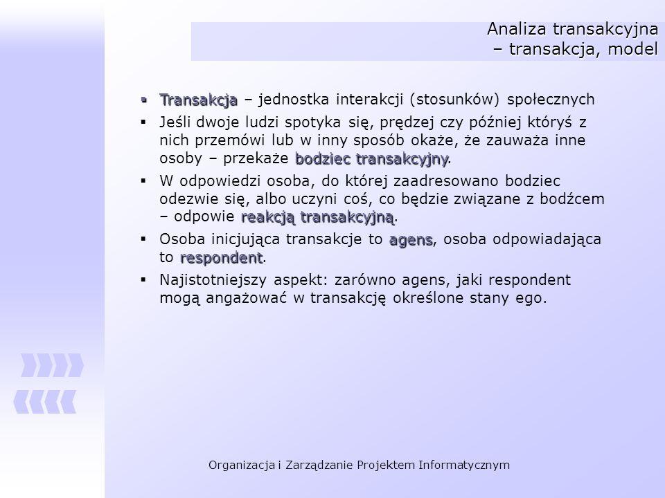 Analiza transakcyjna – transakcja, model