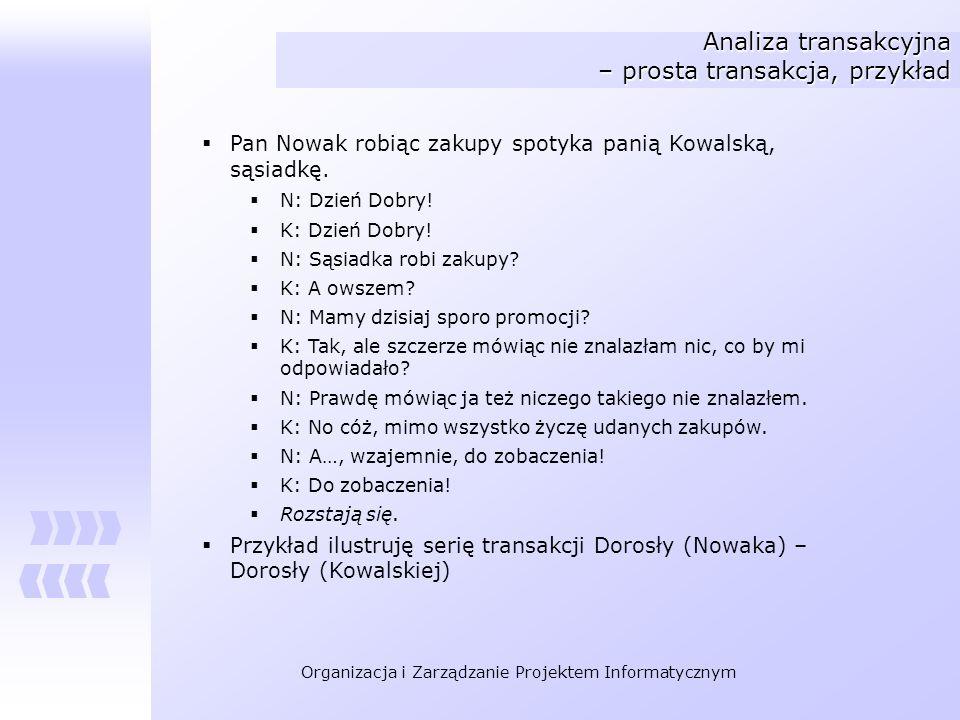 Analiza transakcyjna – prosta transakcja, przykład