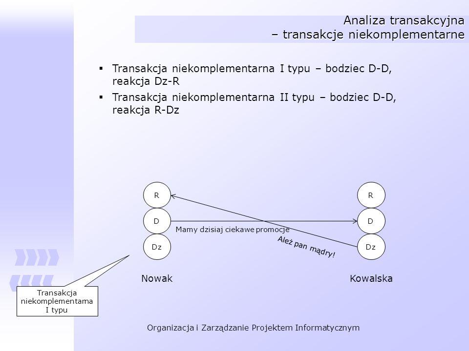 Analiza transakcyjna – transakcje niekomplementarne