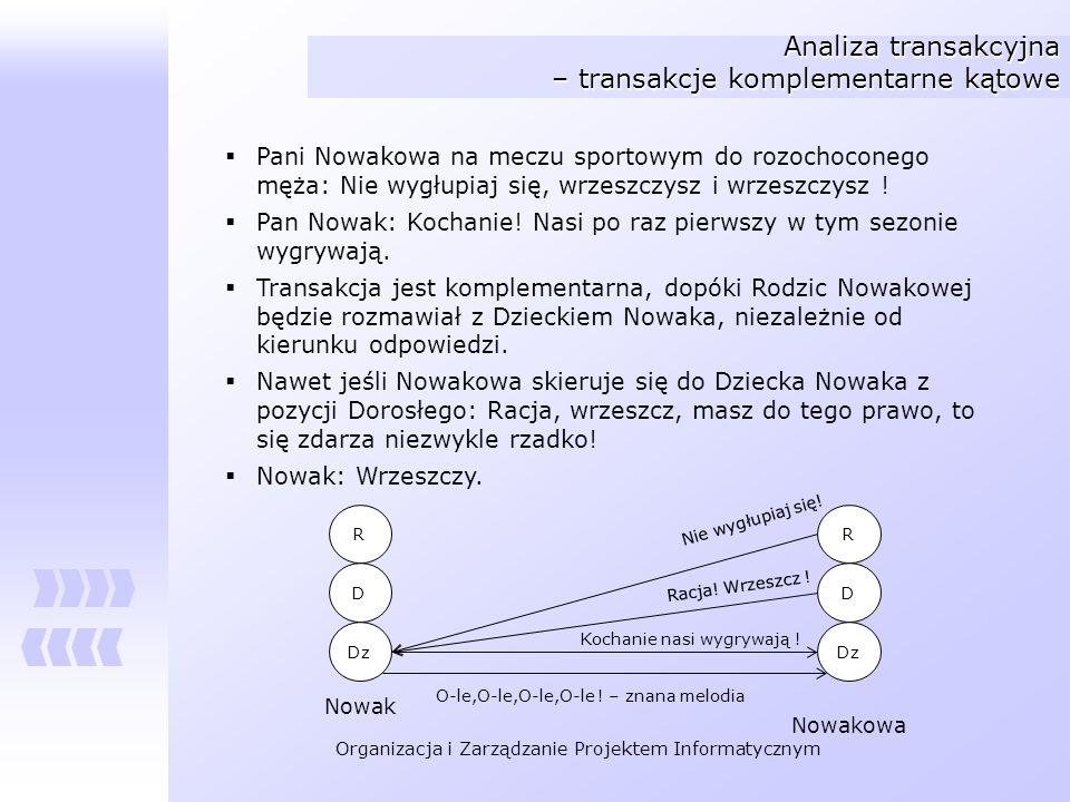 Analiza transakcyjna – transakcje komplementarne kątowe