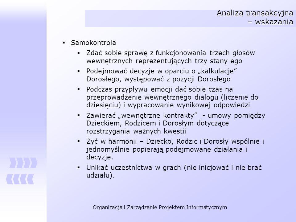 Analiza transakcyjna – wskazania