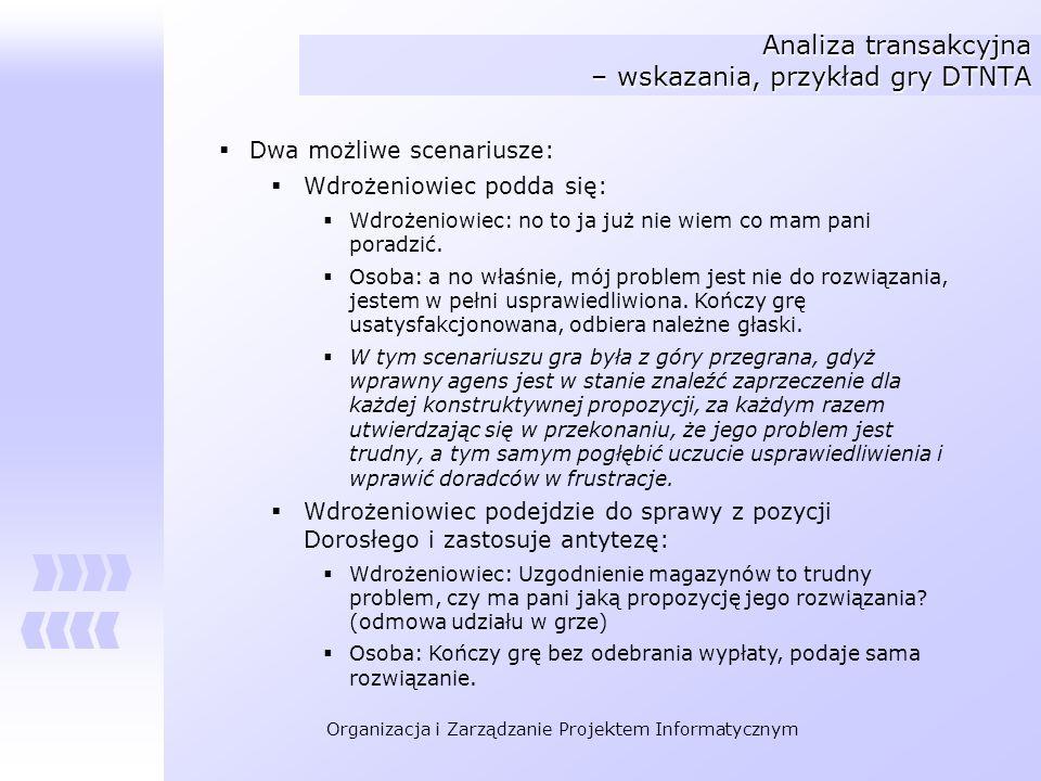 Analiza transakcyjna – wskazania, przykład gry DTNTA