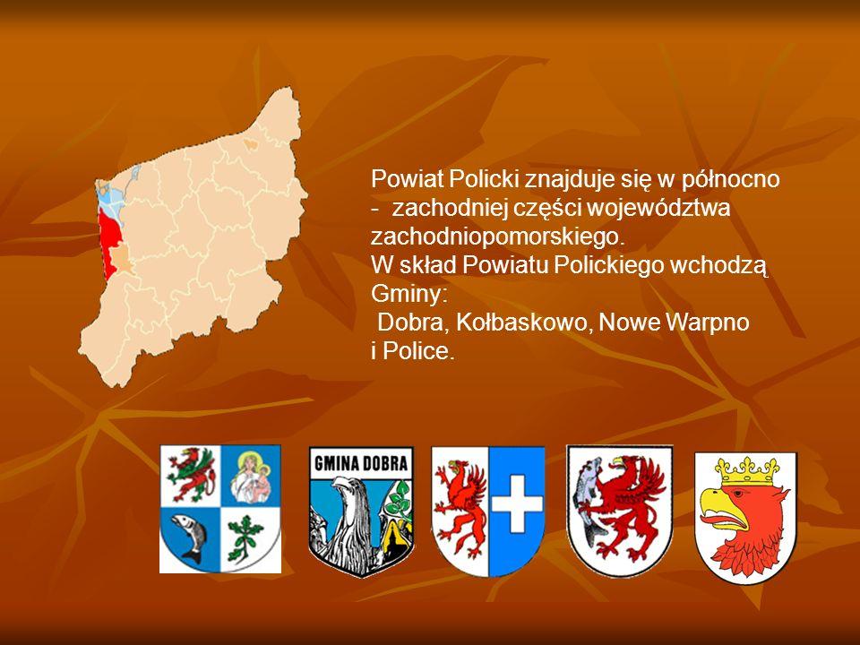 Powiat Policki znajduje się w północno - zachodniej części województwa zachodniopomorskiego.