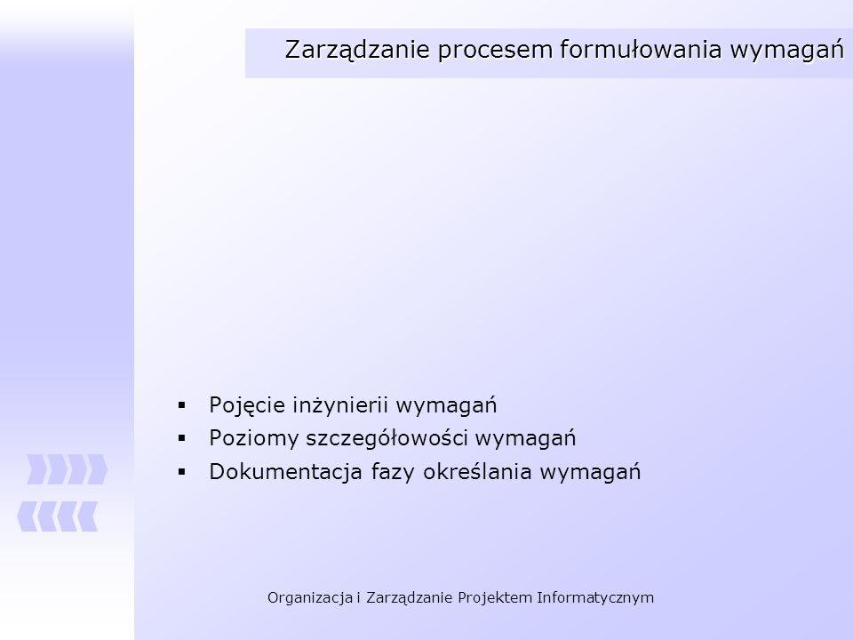Zarządzanie procesem formułowania wymagań