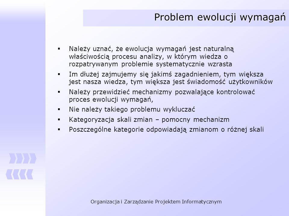 Problem ewolucji wymagań