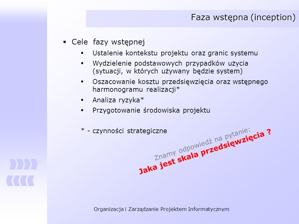 Faza wstępna (inception)