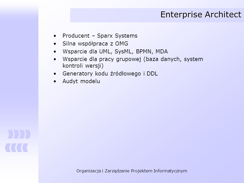 Enterprise Architect Producent – Sparx Systems Silna współpraca z OMG