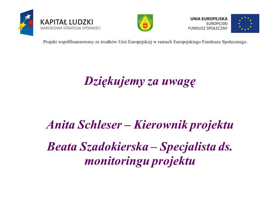 Anita Schleser – Kierownik projektu