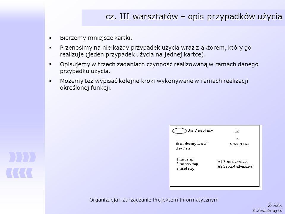 cz. III warsztatów – opis przypadków użycia