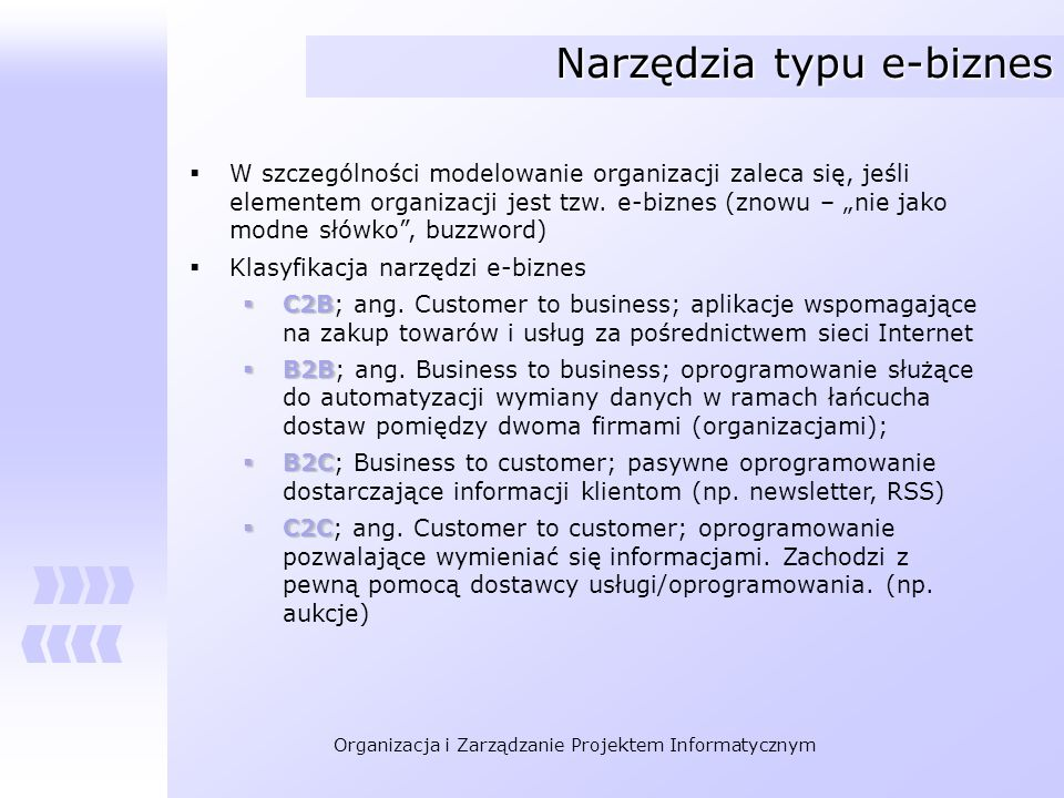 Narzędzia typu e-biznes