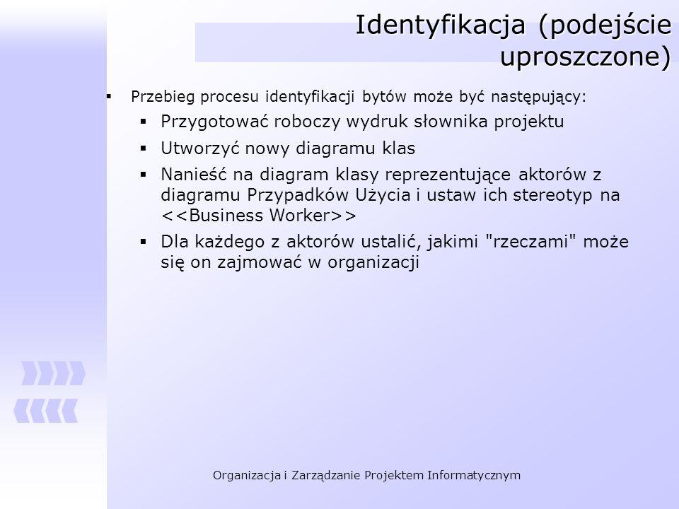 Identyfikacja (podejście uproszczone)