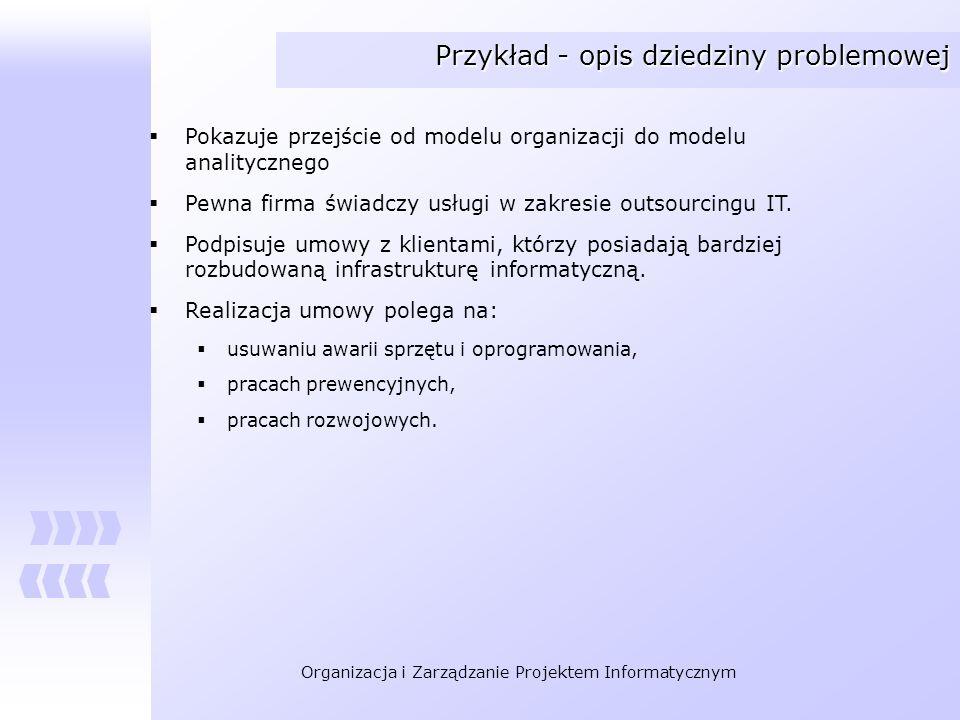 Przykład - opis dziedziny problemowej