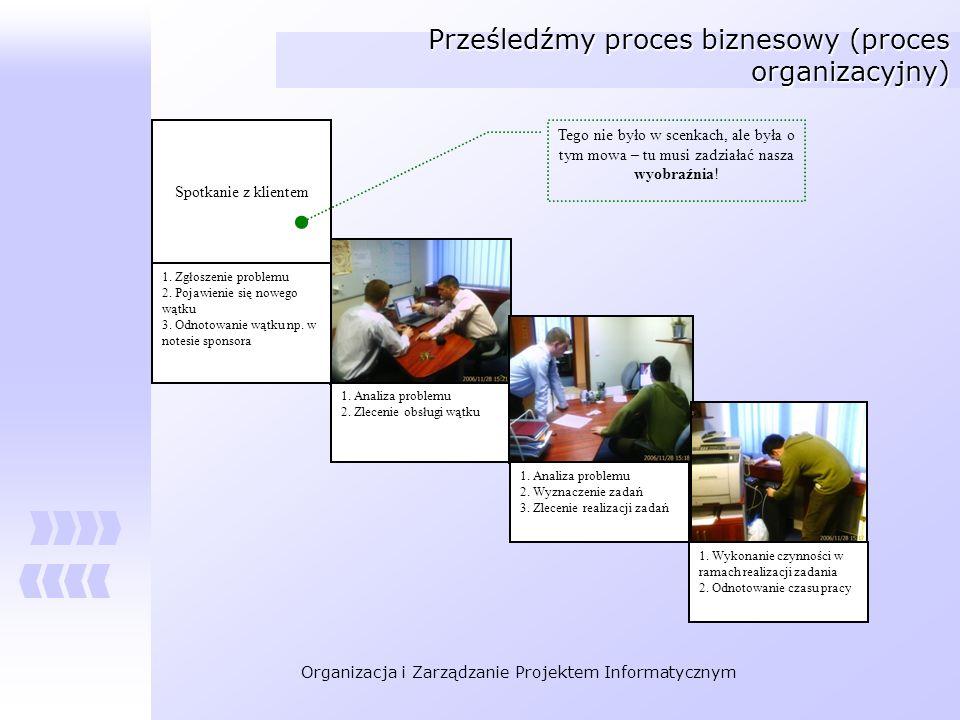 Prześledźmy proces biznesowy (proces organizacyjny)