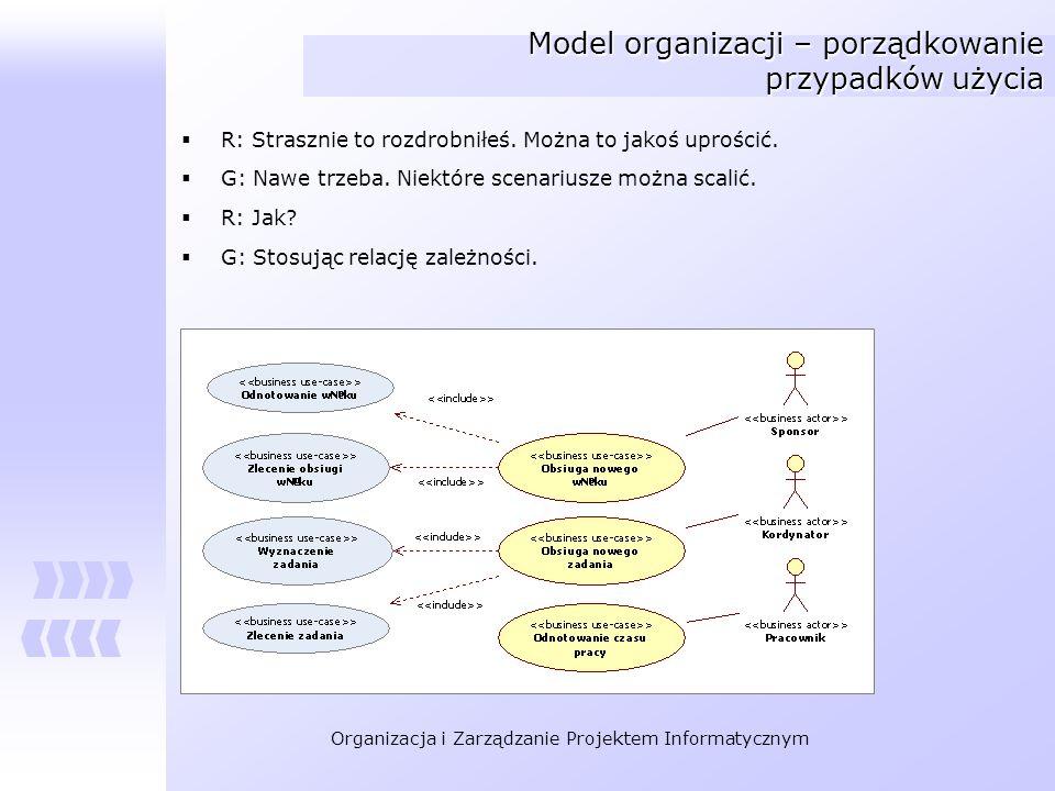 Model organizacji – porządkowanie przypadków użycia