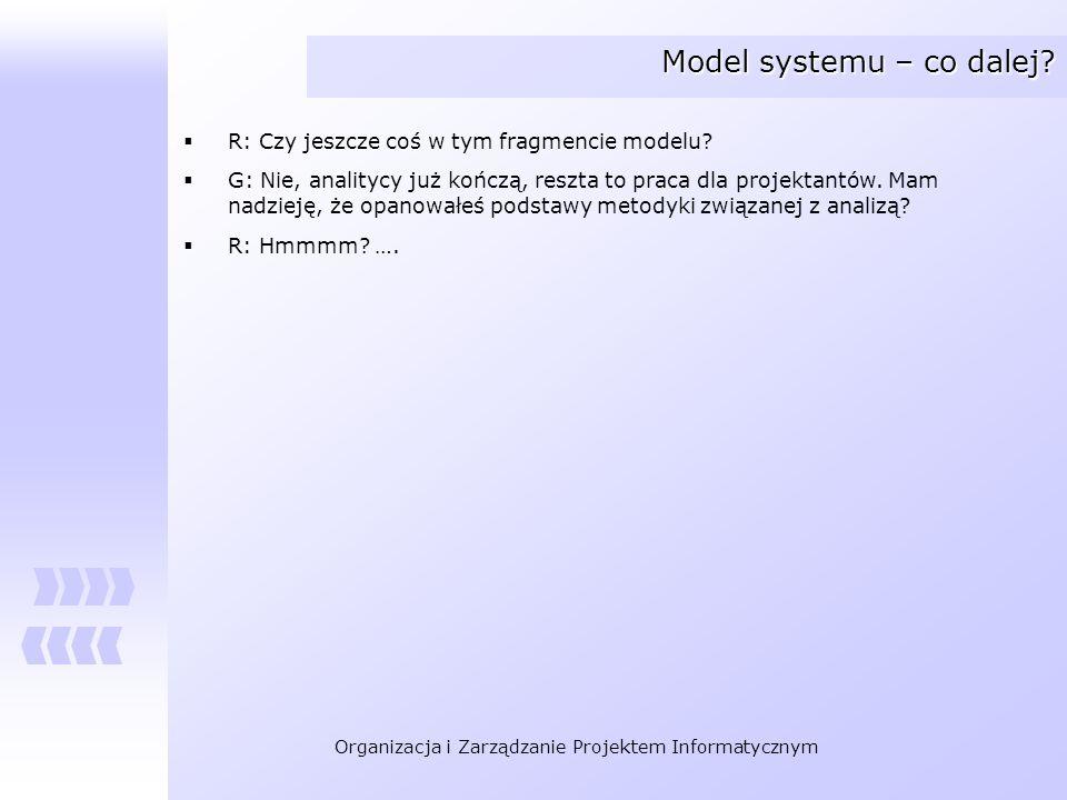 Model systemu – co dalej