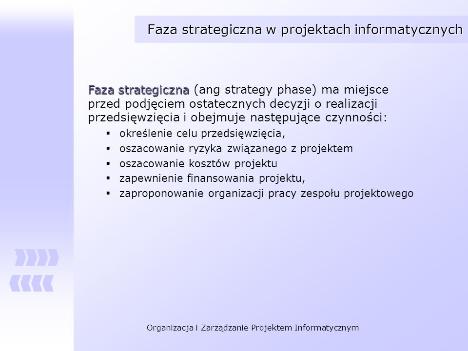 Faza strategiczna w projektach informatycznych