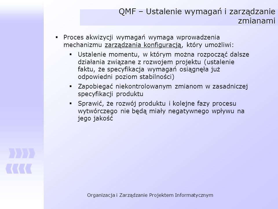 QMF – Ustalenie wymagań i zarządzanie zmianami