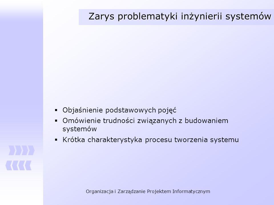 Zarys problematyki inżynierii systemów