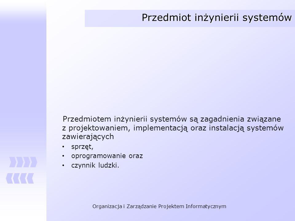 Przedmiot inżynierii systemów