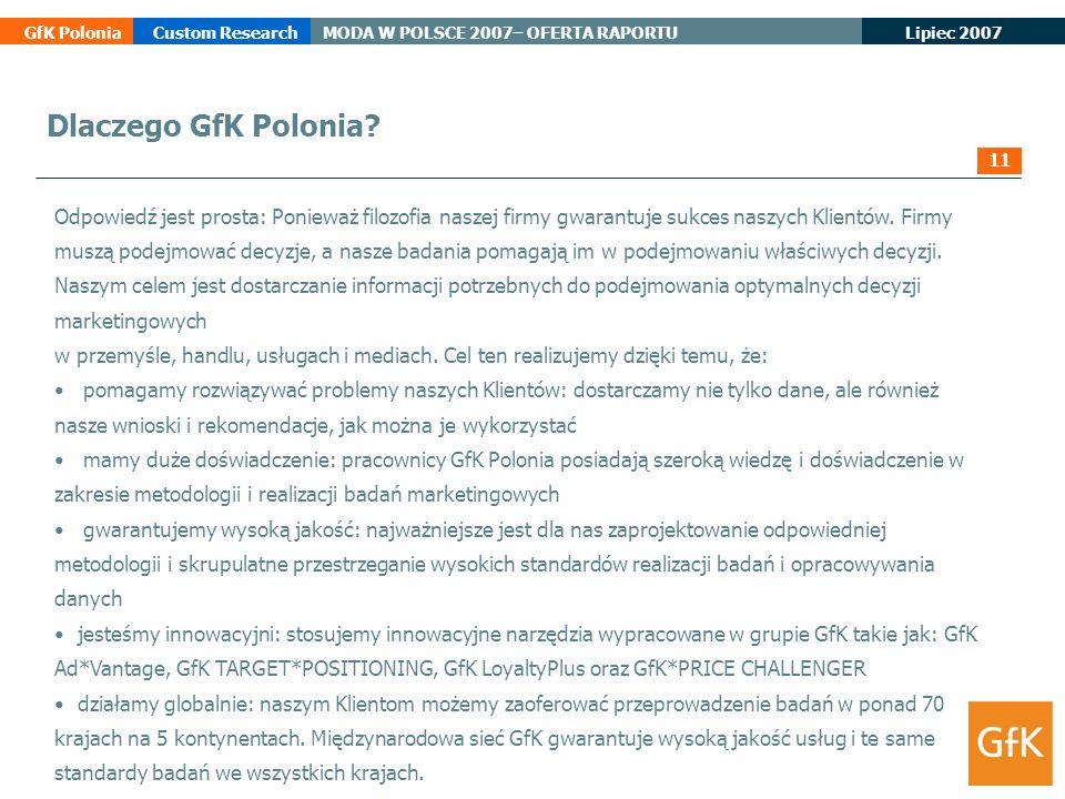 Dlaczego GfK Polonia 11.