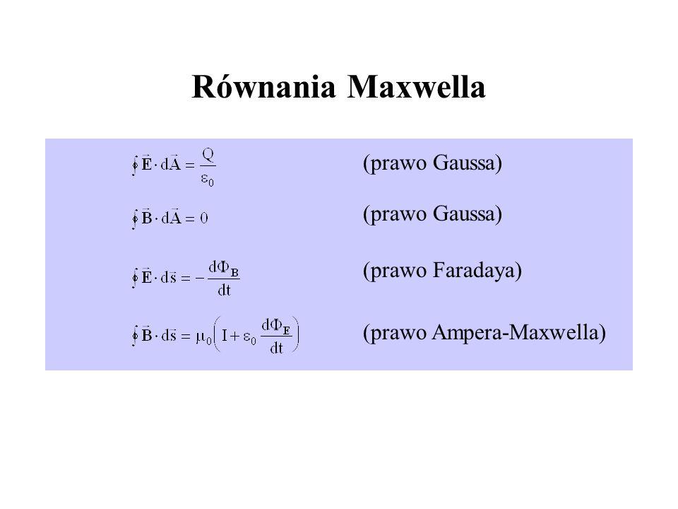 Równania Maxwella (prawo Gaussa) (prawo Faradaya)