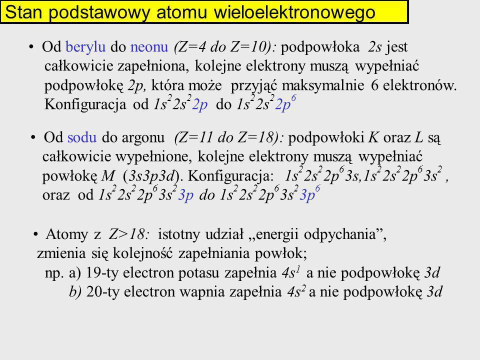 Stan podstawowy atomu wieloelektronowego