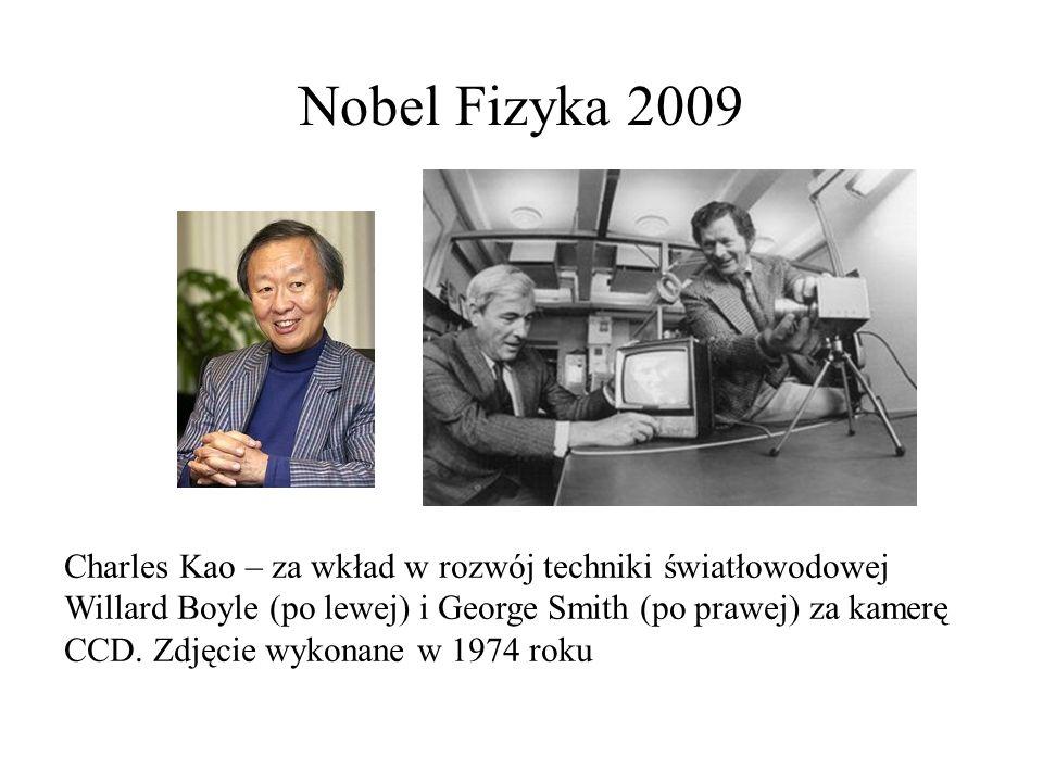 Nobel Fizyka 2009 Charles Kao – za wkład w rozwój techniki światłowodowej.