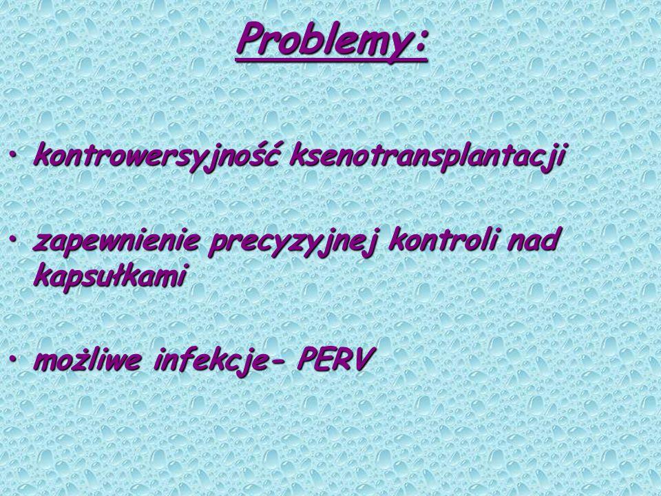 Problemy: kontrowersyjność ksenotransplantacji