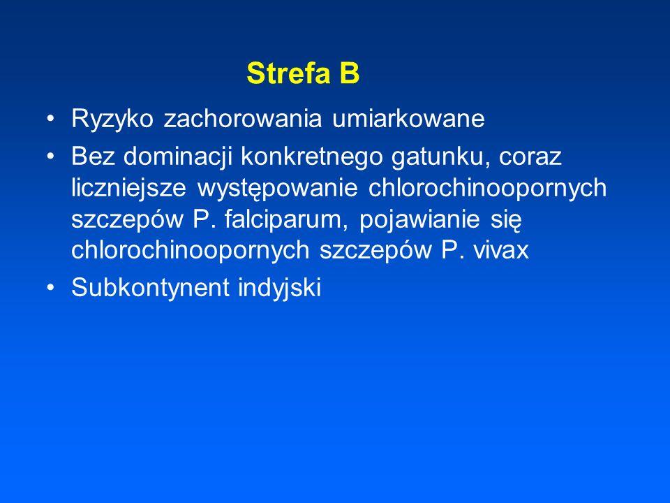 Strefa B Ryzyko zachorowania umiarkowane