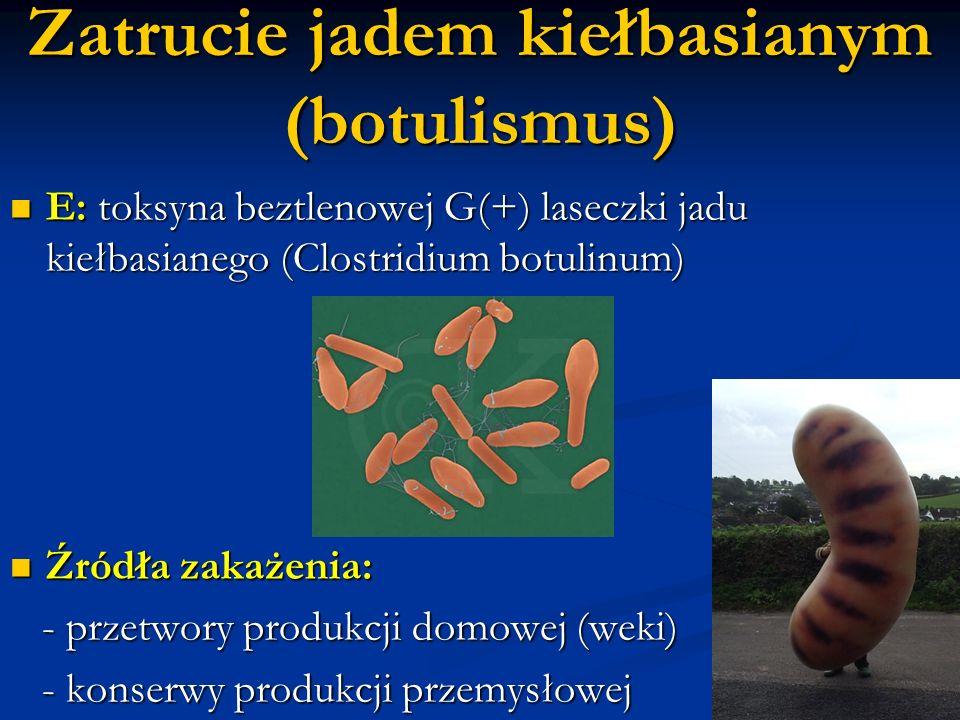 Zatrucie jadem kiełbasianym (botulismus)