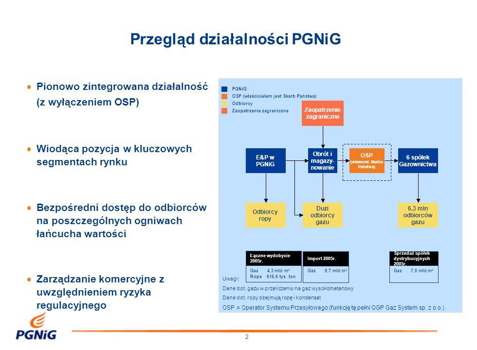 Przegląd działalności PGNiG
